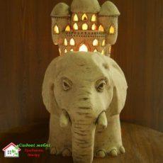 Слон с домом (Б) F046