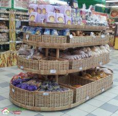 Стойка с ящиками для хлебо-булочных изделий ТО-4